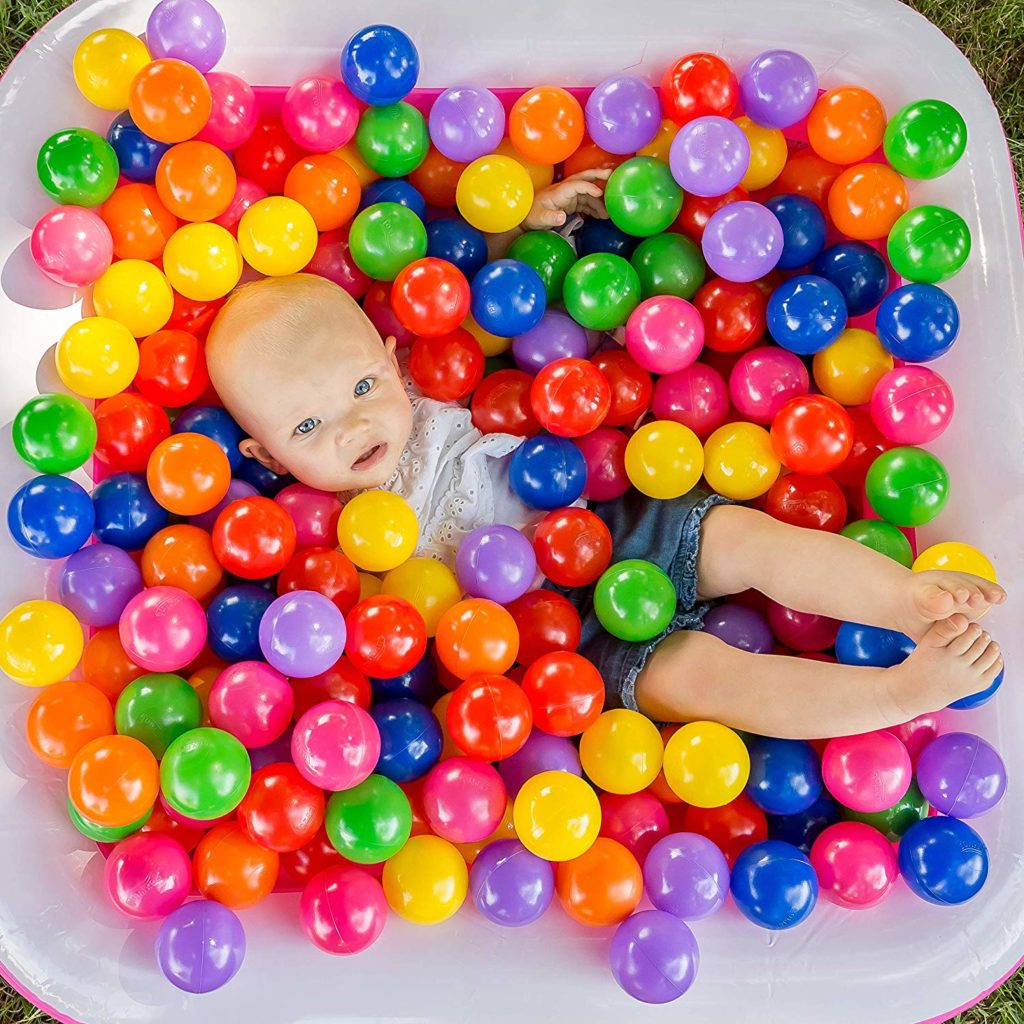50 Phthalate /& BPA Free Kiddie Pool Crush Proof /& No Sharp Edges; Ideal for Baby or Toddler Ball Pit Indoor Playpen /& Parties Soft Plastic Kids Play Balls 50 Balls FoxPrint Non Toxic
